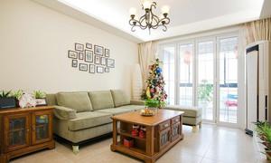 乡村淳朴50平小户型客厅装修设计实例