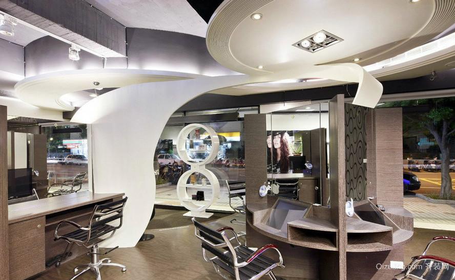 40平米现代时尚小型发廊装修效果图 齐装网装修效果图高清图片