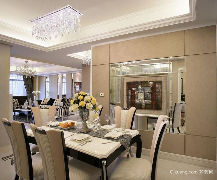2016简欧风格大户型室内餐厅装修效果图
