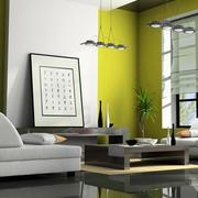 日式清新简约风格客厅液体壁纸装修效果图