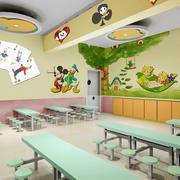 大型清新欢快幼儿园教室装修效果图