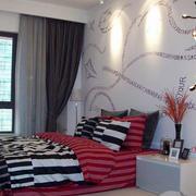 公寓卧室创意背景墙装饰