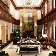 古典美式500平米别墅客厅设计效果图
