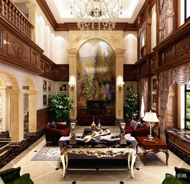 2016欧美风格小别墅客厅设计效果图高清图片