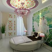 新房卧室圆形吊顶装饰
