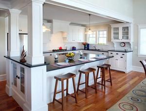 别墅奢华风格欧式整体厨柜装修效果图