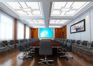简约大型会议室吊顶设计效果图
