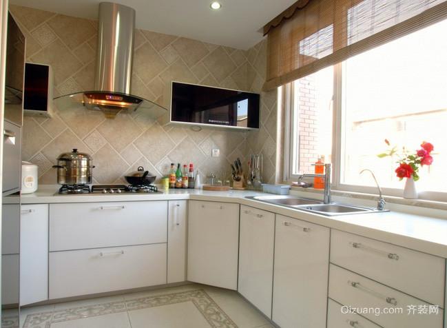 复式楼白色清新北欧风格整体厨房装修效果图