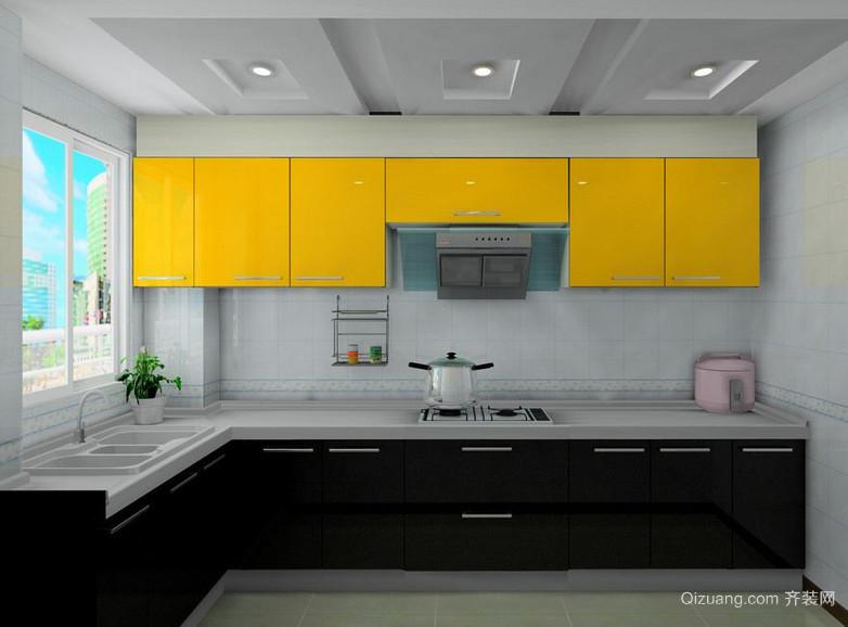 2016现代欧式小户型厨房装修设计效果图