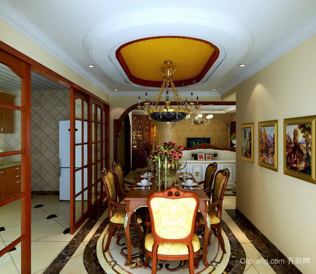 美式老房屋餐厅装修设计效果图