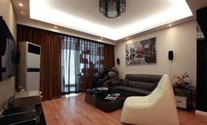 都市90平米老房屋客厅翻新装修设计图
