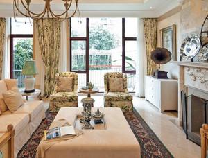 大型欧式奢华风格独栋别墅户型客厅装修图