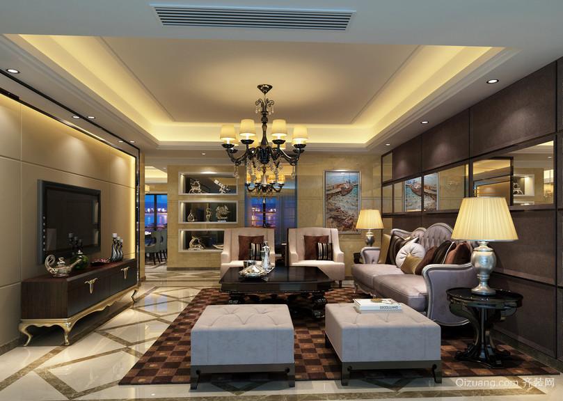 90平米大户型现代简约客厅装修风格图实例