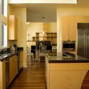 开放式欧式厨柜装饰