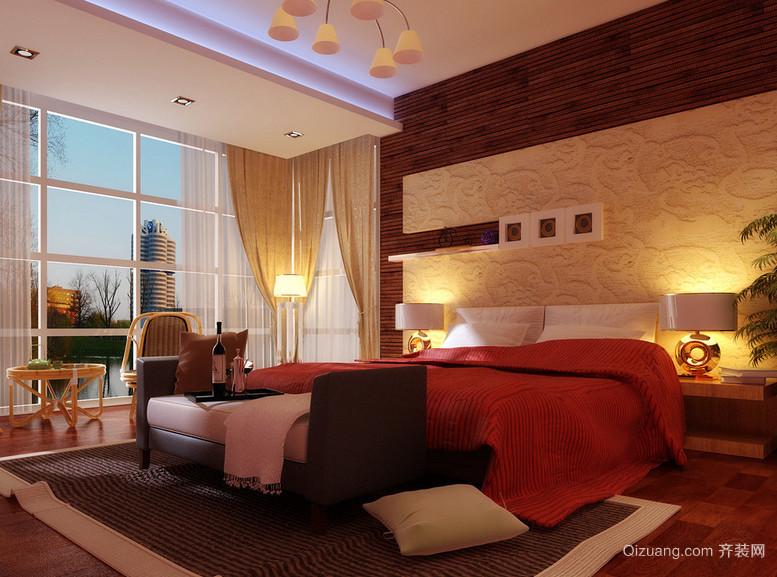 110平米大户型欧式简约卧室装修效果图