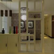 2016精致独特的欧式大户型客厅隔断装修效果图