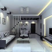 2016精致单身公寓家庭客厅装修设计图