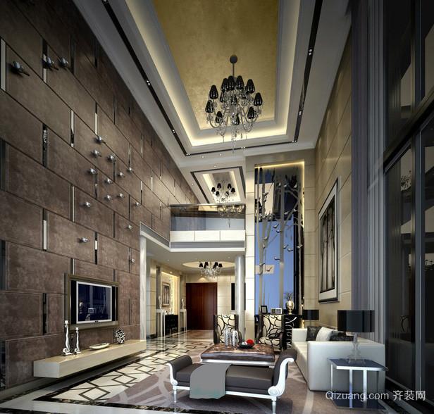 豪华后现代大型别墅客厅设计效果图