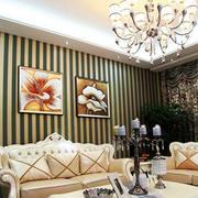 独栋别墅欧式风格沙发背景墙装饰