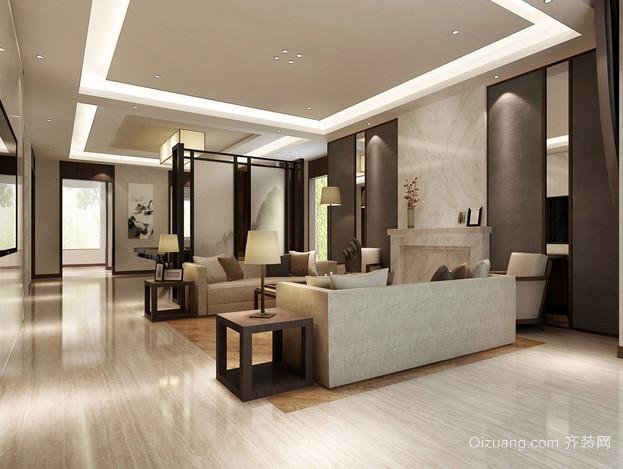 现代简约风格交换空间客厅装修效果图