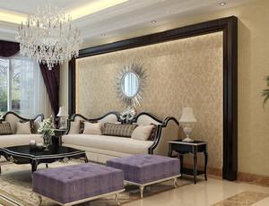 别墅欧式风格精致客厅液体壁纸装修效果图