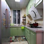 粉色简约厨房橱柜
