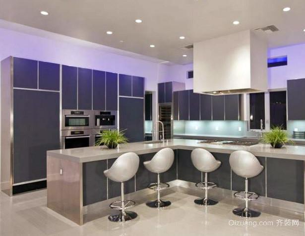 120平米复式楼后现代简约风格厨房装饰图