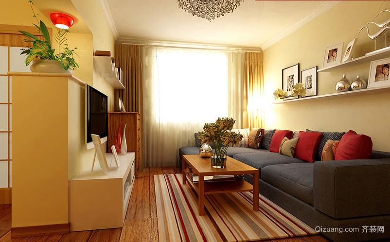 简约63平米老房屋客厅装修设计效果图