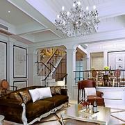 新古典风格小别墅客厅设计效果图