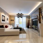 现代欧式时尚的小公寓客厅装修效果图