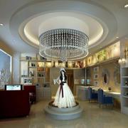 婚纱店圆形吊顶装饰