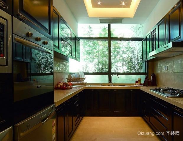 大型复式楼中式简约风格厨房装修效果图