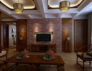 大户型中式奢华风格客厅装修效果图