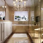 卫生间简欧风格玻璃隔断装饰