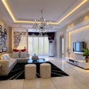 2016唯美欧式大户型家庭室内装修效果图