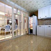 别墅精致厨房推拉门装饰