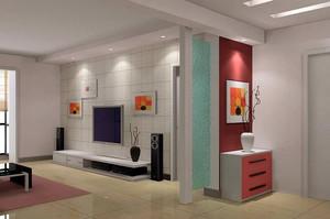 现代小户型家庭玄关装修设计效果图