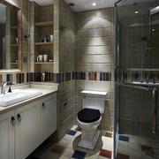 卫生间奢华玻璃隔断装饰