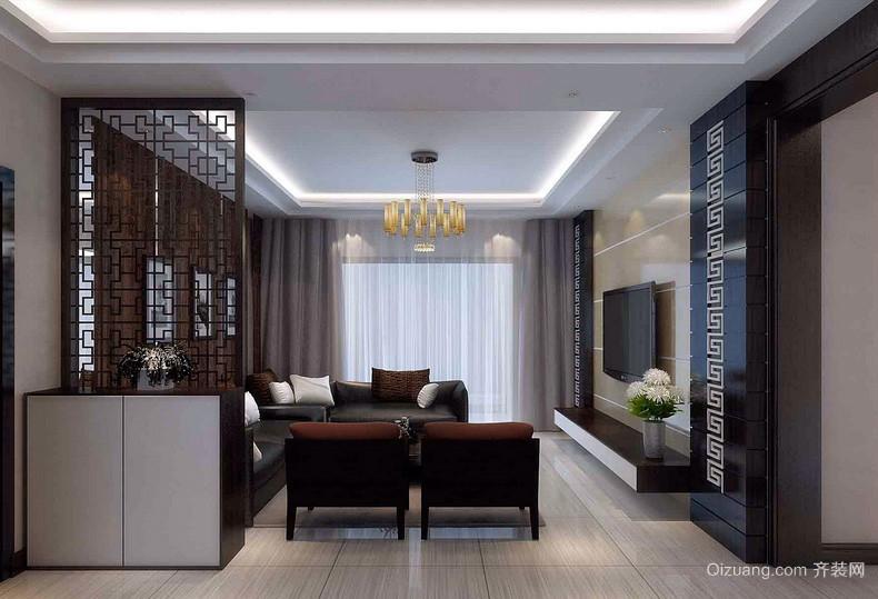 中式风格老年人家庭客厅装修设计图