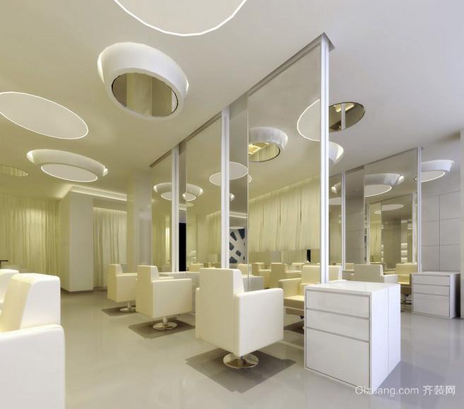 40平米现代时尚小型发廊装修效果图高清图片