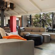 四合院简约风格客厅沙发装饰