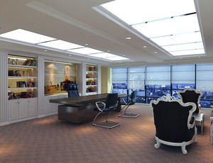 2016时尚都市董事长办公室吊顶装修效果图鉴赏