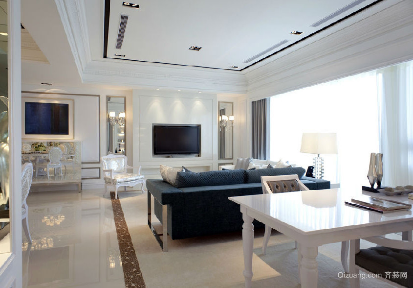 现代151平米老房装修设计效果图