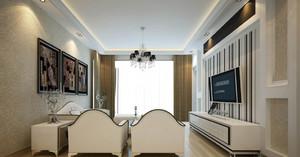 明亮都市120平米家居客厅装修效果图