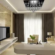 时尚素雅60平米家庭吊灯装修设计图