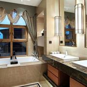 别墅奢华风格大型中式卫生间装修效果图