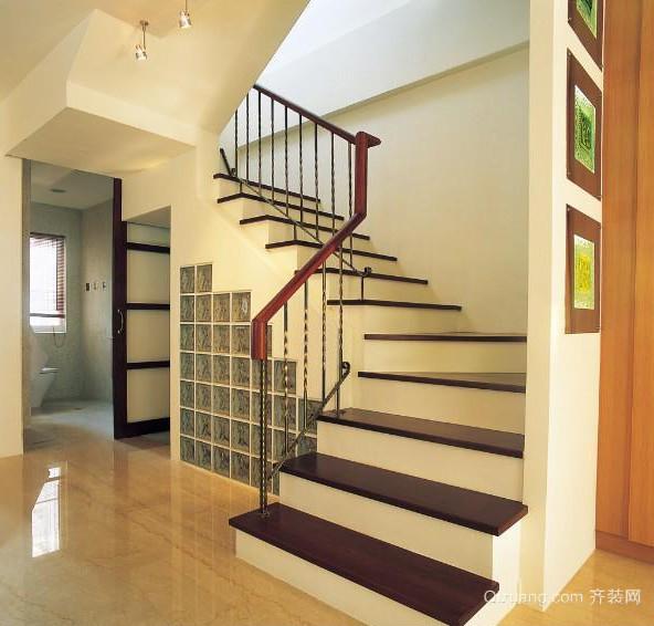 2016唯美大户型室内楼梯设计装修效果图