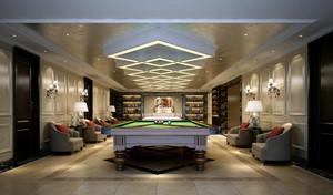 大型奢华现代别墅娱乐室设计效果图