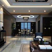 四合院深色系客厅装饰