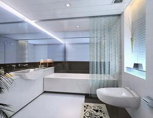 大型四合院别墅欧式简约卫生间装修效果图